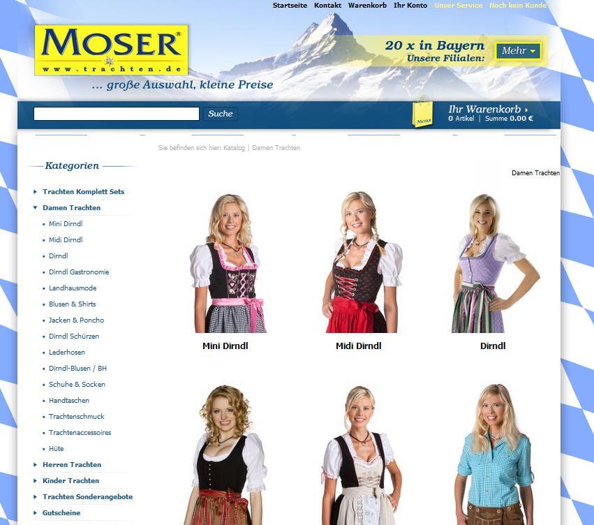 Trachten Moser Online-Shop