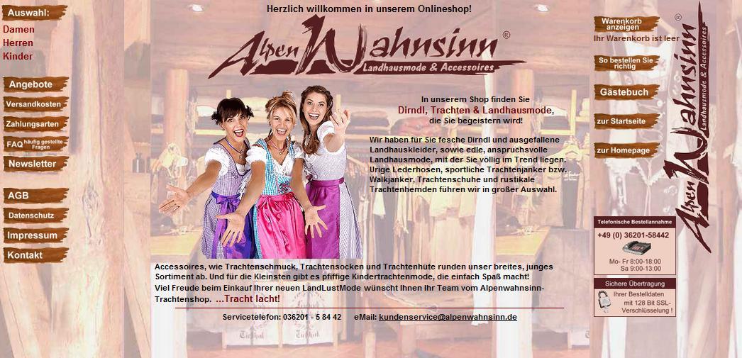 alpenwahnsinn.de Online-Shop