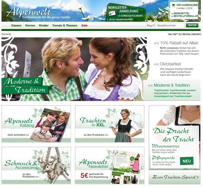 alpenwelt-versand.com Online-Shop