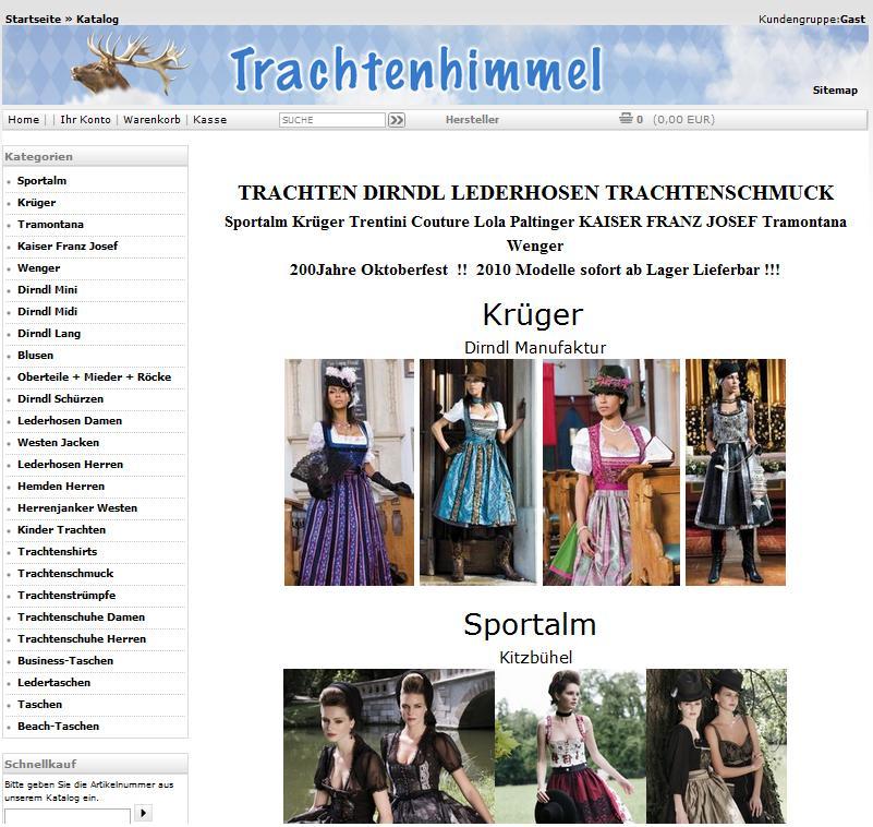 Trachtenhimmel.de Online-Shop