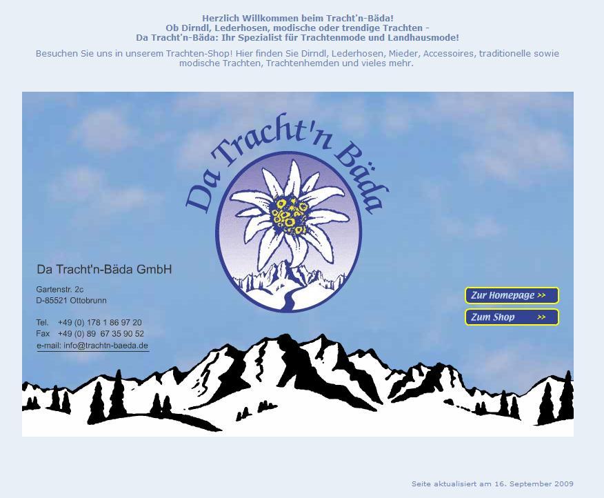 trachtn-beada.de Online-Shop