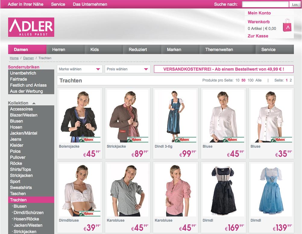 Adler Online Shop