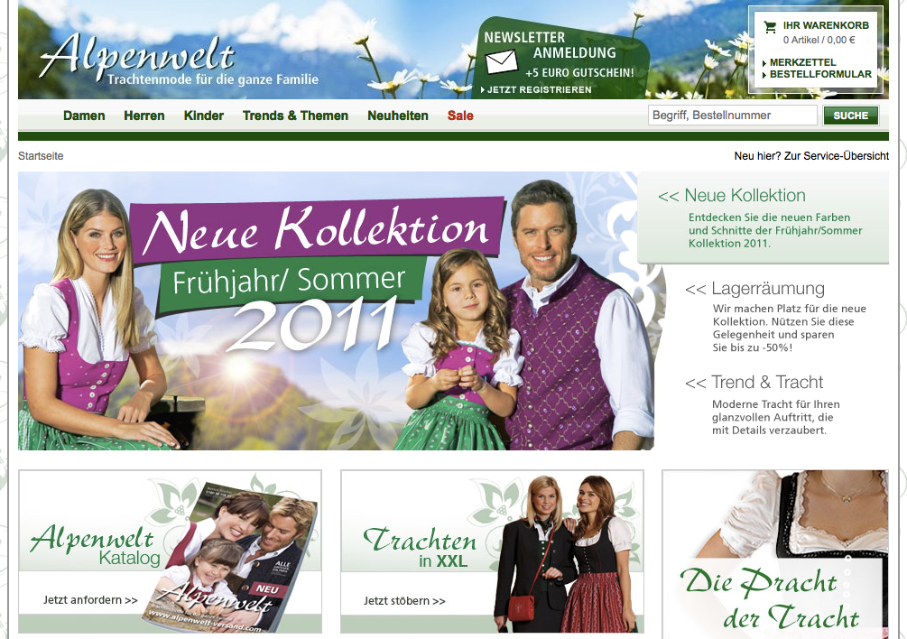 Alpenwelt Versand Frühjahr Sommer 2011