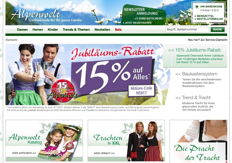 Alpenwelt-Versand   Rabatt Aktion